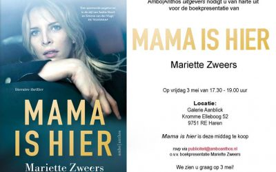 Uitnodiging boekpresentatie Mariette Zweers